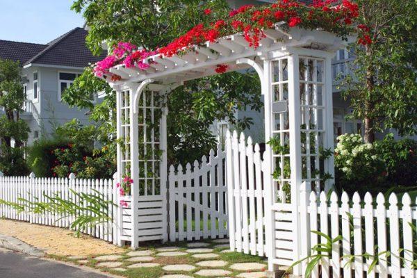 phong thủy sân vườn biệt thự
