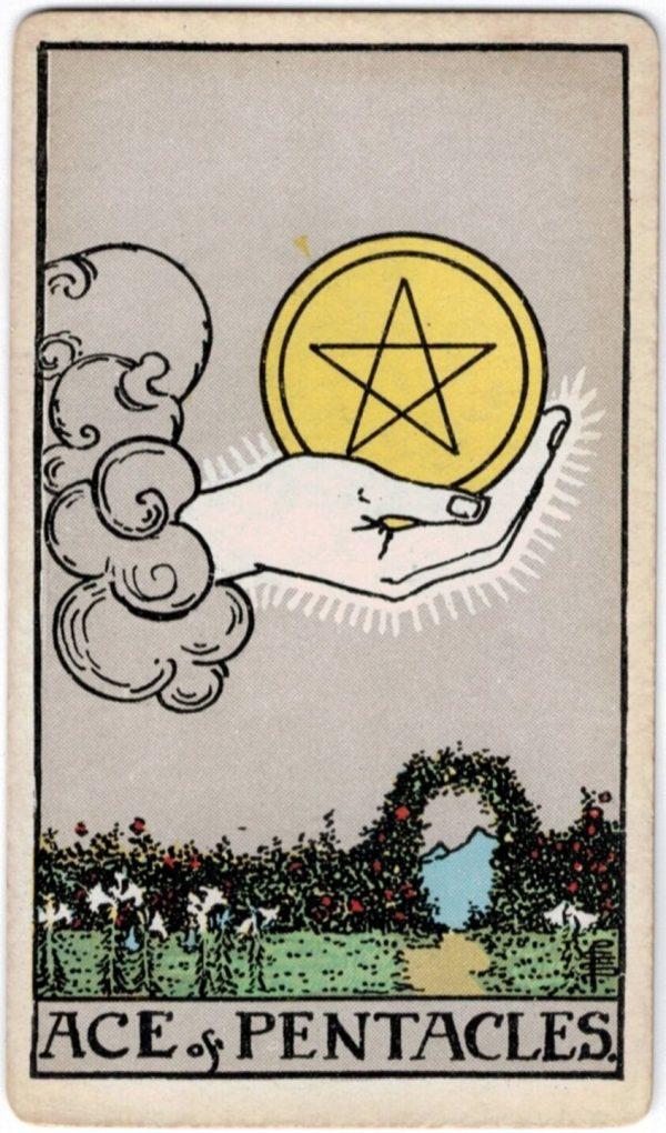ý nghĩa lá bài Ace of Pentacles