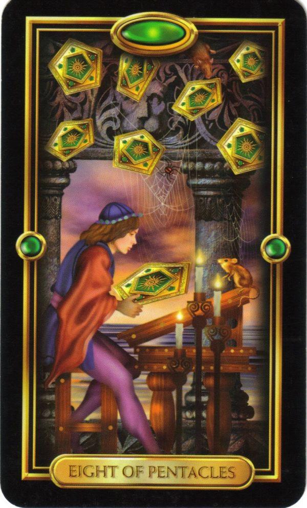 Ý nghĩa lá bài Eight of Pentacles