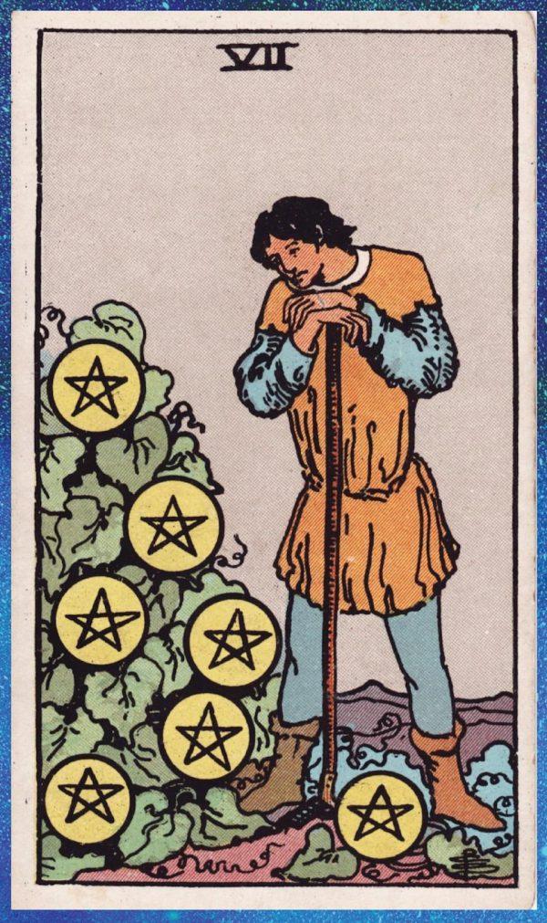 Ý nghĩa lá bài Seven of Pentacles