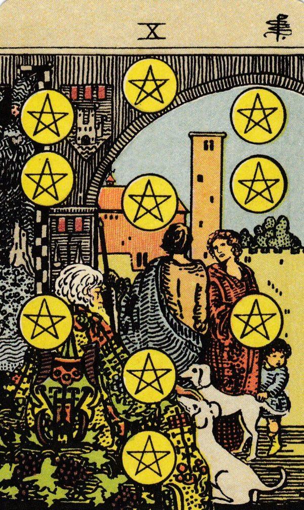 Ý nghĩa lá bài Ten of Pentacles