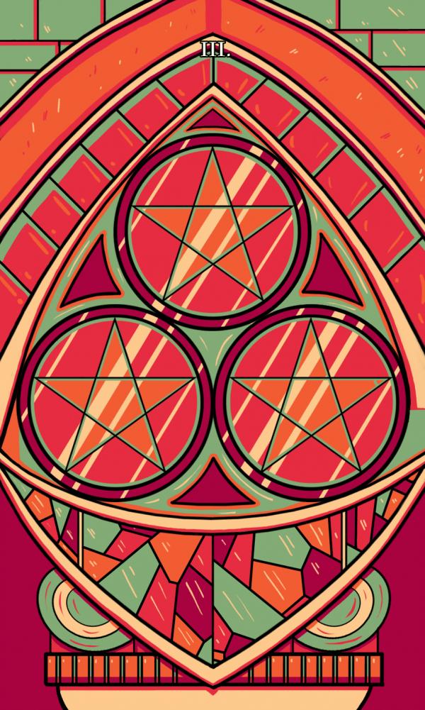 Ý nghĩa lá bài Three of Pentacles