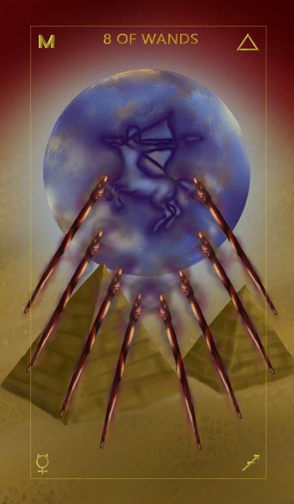 Ý nghĩa lá bài Eight of Wands