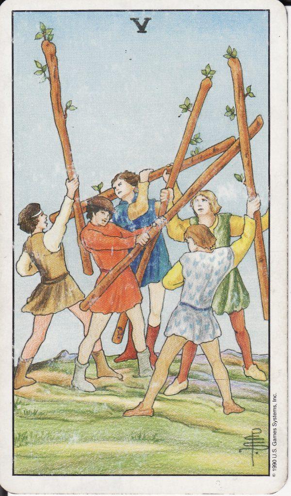 Ý nghĩa lá bài Five of Wands