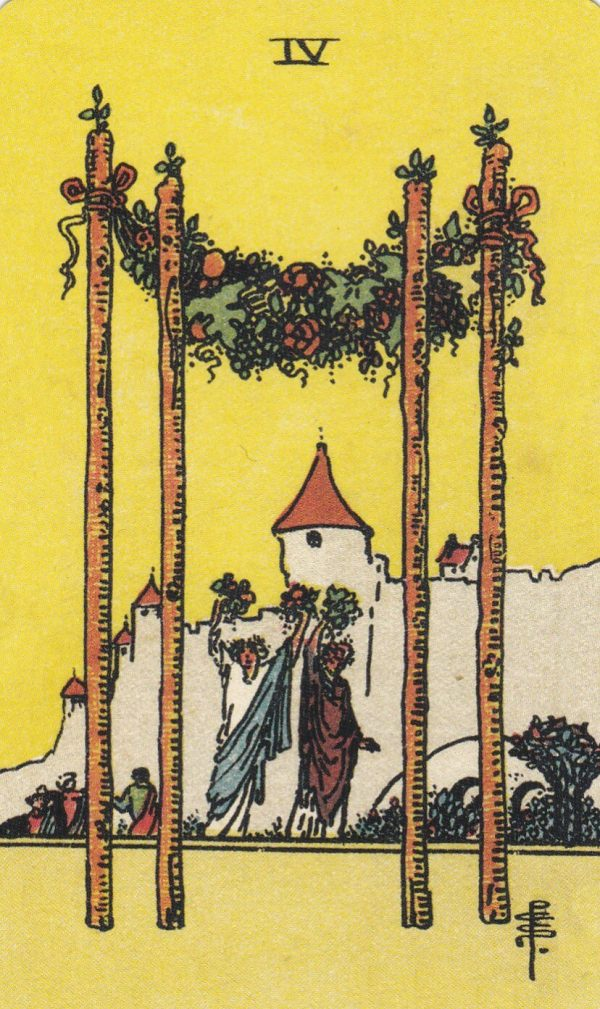 Ý nghĩa lá bài Four of Wands